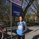 Padma Lakshmi participate in the MORE/SHAPE Women's Half-Marathon on April 17, 2016 in New York City - 400 x 600