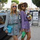 Paris and Nicki Hilton on Robertson Blvd in West Hollywood - 454 x 681