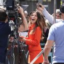 Sarah Shahi – Filming EXTRA TV live in Los Angeles - 454 x 681