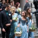 Rupert Murdoch and Jerry Hall wedding at St. Bride's Church on Fleet Street, London, Britain - 5 March 2016 - 454 x 557
