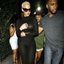 Amber Rose Leaving Emerson Club In Hollywood