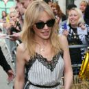 Kylie Minogue – Seen outside BBC Radio Two studios in London