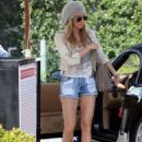 Ashley Tisdale shopping at Planet Blue in Beverly Hills