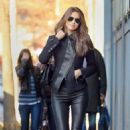 Irina Shayk: Busy Day In NYC