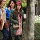 Lily Collins – On the set of 'Emily in Paris' in Paris - 454 x 681