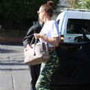 Irina Shayk in Camouflage Leggings – Out in West Hollywood