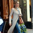 Jennifer Aniston – Leaves Nello Restaurant in New York - 454 x 648