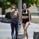 Jayde Nicole in Tiny Shorts – Hiking with a female friend in the Hollywood Hills - 454 x 518