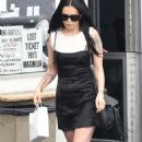Rumer Willis in Black Mini Dress out in Beverly Hills - 454 x 743