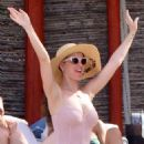 Katy Perry in Swimsuit on the beach in Cabo San Lucas