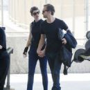 Anne Hathaway and Adam Shulman at JFK airport in NYC (July 6)