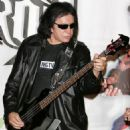 Gene Simmons makes an appearance at Virgin Megastore in Times Square to help launch Guitar Hero II on XBOX 360 and crown the Guiter Hero II champion on April 11, 2007 in New York City