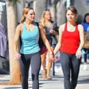 Joey and Hunter King – Out for coffee after a workout in Studio City
