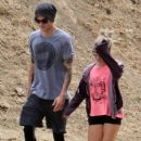 Ashley Tisdale and Christopher French hiking at Runyon Canyon in Los Angeles,  August 31, 2013