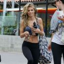 AnnaLynne McCord in Tights and Sports Bra out in Malibu - 454 x 667