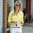 Model Alessandra Ambrosio out running some errands with family on August 27, 2013 in Brentwood, California