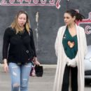 Mila Kunis – Goes to a nail salon with a friend in North Hollywood