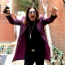 Musician Ozzy Osbourne is all smiles as he leaves a doctors office in Beverly Hills, California on February 27, 2017 - 454 x 515