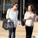 Lea Michele's Barneys Bonding with Mom