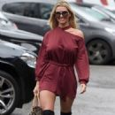 Christine McGuinness in Red Mini Dress – Out in Cheshire - 454 x 735