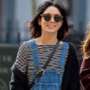 Vanessa Hudgens is seen out and about with her sister Stella in NYC Sunday April 12,2015