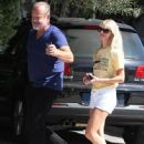 Kelsey Grammer and his wife stop by the Andy LeCompte Salon in West Hollywood, California on September 29, 2015 - 446 x 600