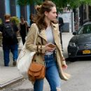 Lily James Casual Style – New York City 07/25/2017 - 454 x 683