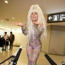 Lady Gaga wears Perry Meek - Tokyo's Narita International Airport Arrival