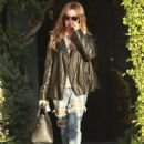 Actress Ashley Tisdale stops by the Andy Lecompte Salon in West Hollywood, California on October 21, 2014