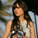 Zooey Deschanel Performs During Day One Of The Coachella Music Festival 2010 In Indio, CA, 16 April 2010