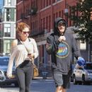 Jake Gyllenhaal hitting the gym incognito with a friend in New York City (September 22)