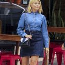Holly Willoughby in Jeans Skirt – Out in Sydney - 454 x 687
