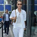 Bella Hadid in White – Out and about in Paris