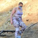 Iskra Lawrence – In camo leggings out for hike in Los Angeles - 454 x 583