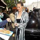 Chrissy Teigen at Il Pastaio in Beverly Hills