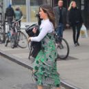 Sophia Bush in Long Dress out and NYC - 454 x 557