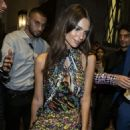 Emily Ratajkowski – Leaving Versace After Party in Milan