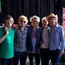Ed Sheeran with The Rolling Stones during soundcheck at Arrowhead Stadium, Kansas City, MO, USA - 27 June 2015