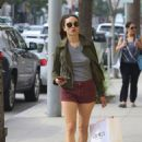 Crystal Reed Shops in Beverly Hills, CA 3/3/2016 - 454 x 642
