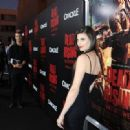 """Actress Meghan Ory arrives at the premiere of Crackle's """"Dead Rising: Watchtower"""" at Sony Pictures Studio on March 11, 2015 in Culver City, California"""