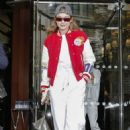 Gigi Hadid in College Jacket – Out and about in Paris
