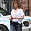 Jennifer Lopez on the set of 'Shades of Blue' in NYC - 454 x 787