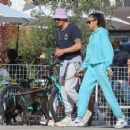 Joel Kinnaman and Kelly Gale head out for lunch and then to a dog park with their dog Zoe in Venice Beach, California - 454 x 356