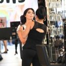 Brittny Gastineau gets her make up done in Beverly Hills, California on August 4, 2016