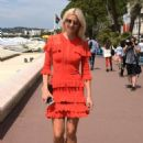 Lena Gercke in Red Dress out in Cannes - 454 x 649