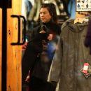 Kourtney Kardashian – Shopping in Aspen