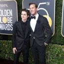 Timothee Chalamet and Armie Hammer At The 75th Golden Globe Awards (2018) - 386 x 600