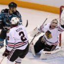 Antti Niemi Makes A Save As A Chicago Blackhawk 2010