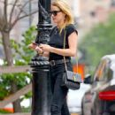 Amber Heard in Black Jeans with Vito Schnabel out in NYC - 454 x 681