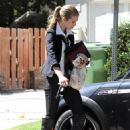 Annalynne McCord Leaving Boyfriend's House In LA 9-15-2010